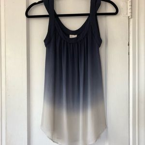 Anthropologie Postmark 100% Silk Ombré Tank Top